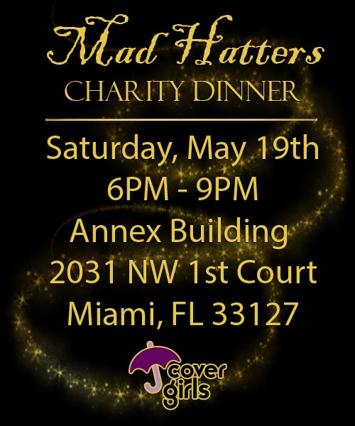 Cover Girls Mad Hatters Charity Dinner.